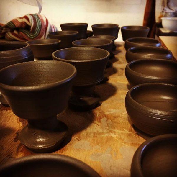今日は、小さな小さな器を作っておりました(^ ^) #表札#アトリエショップCOCOCO#コココ#COCOCO#紅型陶器#陶器 #陶芸#沖縄 #okinawa