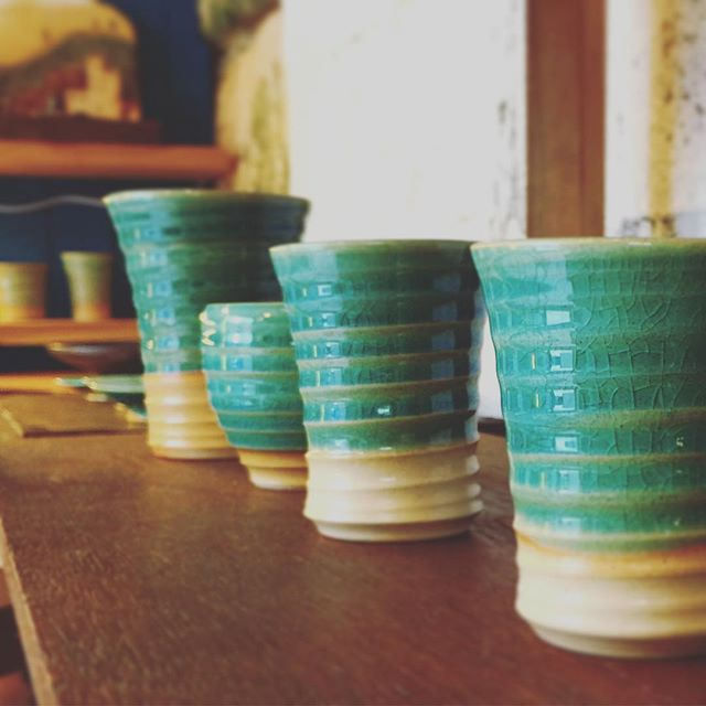 海色の器たくさん窯出ししました#海の色#アトリエショップCOCOCO#コココ#COCOCO#紅型陶器#陶器 #陶芸#沖縄 #okinawa
