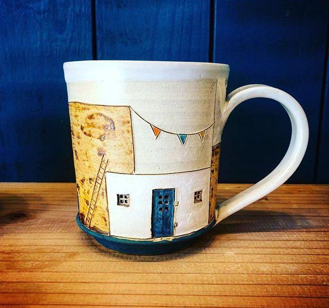 沖縄の陶器・陶芸作品「夢の中のコーヒーマグカップ」